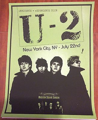 U2 iNNOCENCE AND eXPERIENCE TOUR MSG POSTER 7/22 283/300 POSTER MSG NYC