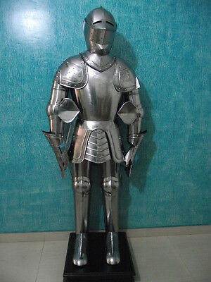 Knight Full Body Armour Collectible Militaria Sca With Armor Stand Decorative