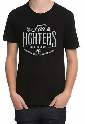 870789c1810 FOO FIGHTERS 100% ORGANIC LOGO T-Shirt NEW Dave Grohl 100% Authentic ...