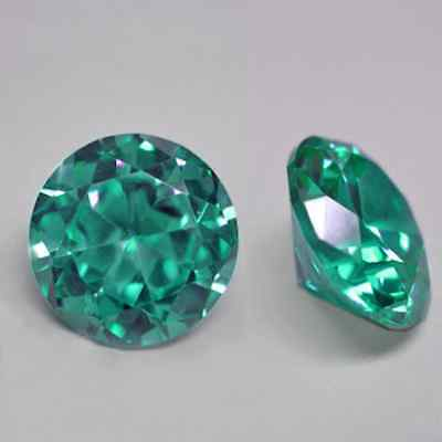 Cubic Zirconia Grass Green Round AAA Rated CZ Loose Stones (1mm - 15mm)