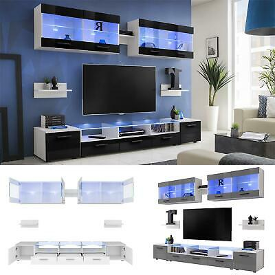 Modern Living Room Furniture Entertainment Center Wall Unit  TV Stand Flash
