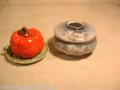 Lot of Royal Bayreuth Porcelain Hair Receiver & Tomato Condiment Server