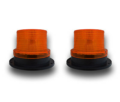Pair 24V Led Three Bolt Flashing Beacon Commercial Industrial Plant Vehicles