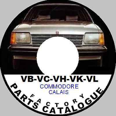 HOLDEN VB VC VH VK VL VN VP Commodore Factory Parts Restoration Catalogue CD hdt
