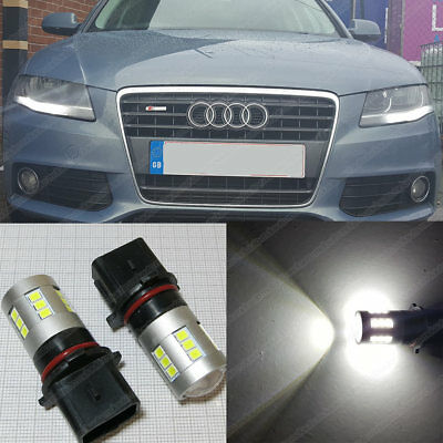 Audi A4 B8 Daytime Running Lights LED Bulbs Canbus CREE DRL P13W Xenon