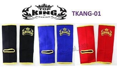 Ankle Supports Guard Top King Muay Thai Boxing Fighting Mma K1 Free Shipping