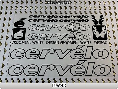 """CERVELO Stickers Decals Bicycles Bikes BMX MTB Cycles /""""DIFFERENT COLORS/"""" 57L"""