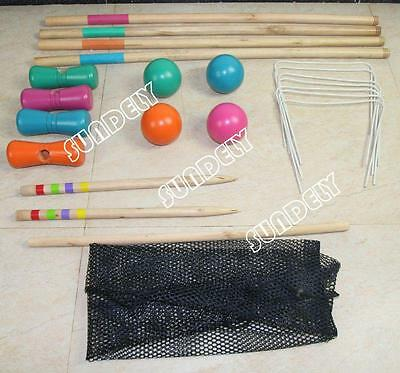 SUNDELY High quality Classic 4 Player Croquet Set in Carry Bag. Free Shipping.