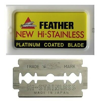 Genuine Feather New Hi-Stainless Blades - Packet Of 5 Blades Suit Safety Razor