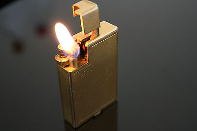 Vintage DUNHILL Savory Handy Gold Plated Petrol  Lighter 1930s