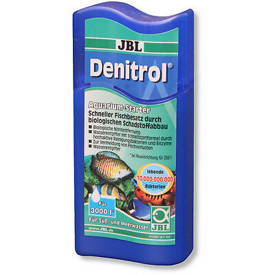 JBL Denitrol 100ml Live Filter Starter Bacteria Removes Ammonia Nitrite New Tank