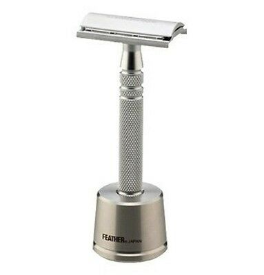 Feather Stainless Steel Double Edge Safety Razor with Stand - AS-D2