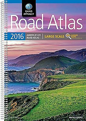 Rand McNally 2016 Large Scale Road Atlas USA Spiral-Ed. Book Maps United States