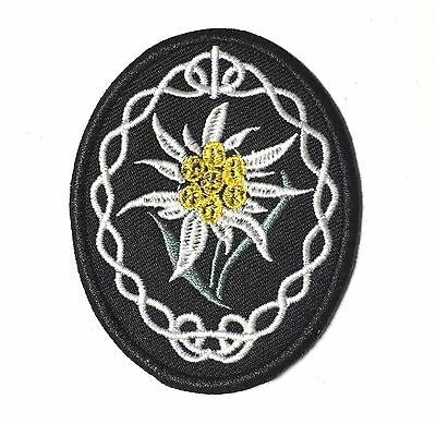 Wwii German  Mountain Troops Edelweiss Sleeve Insignia Patch -1213
