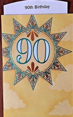90TH BIRTHDAY GREETING CARDS AGE 90 Choice Of 12 By HALLMARK