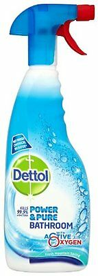 Dettol Power & Pure Bathroom Spray 750 Ml (Pack Of 3) New Gift UK SELLER