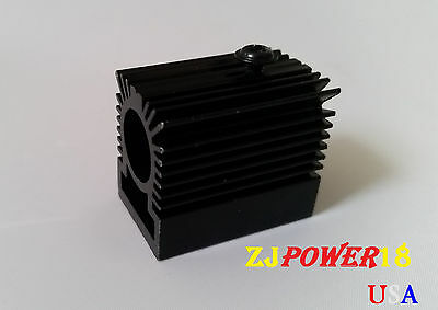 2PCS Cooling Heatsink/ Heat Sink for 12mm Laser Diode Module - BLACK