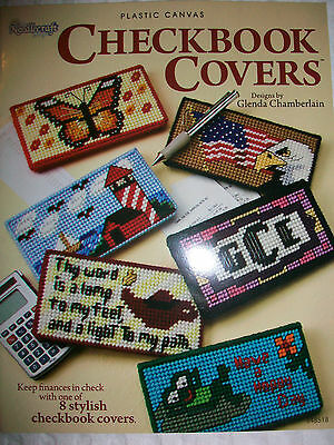 Plastic Canvas Checkbook Covers Needlepoint Book - Great Designs For Crafts