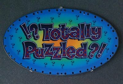 IGT Slot Machine Oval Topper Insert TOTALLY PUZZLED