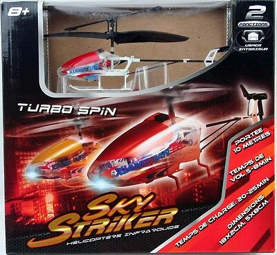 RC Hubschrauber Turbo Spin Helicopter rot