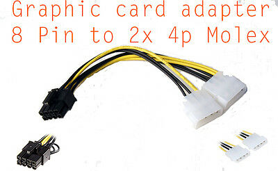 Cable alimentation carte graphique Molex 4 Pin to 8 pin PCI-E  connector adapter