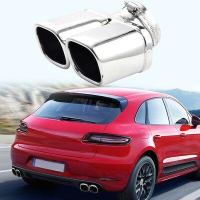 Car Exhaust Tip Chrome Tail Pipe Cover Trim Stainless Steel Y-Pipe Dual/Dual UK