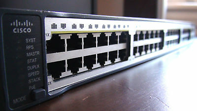 CISCO CATALYST 3750 PoE-48 Switch WS-C3750-48PS-S CCNA CCNP compatible