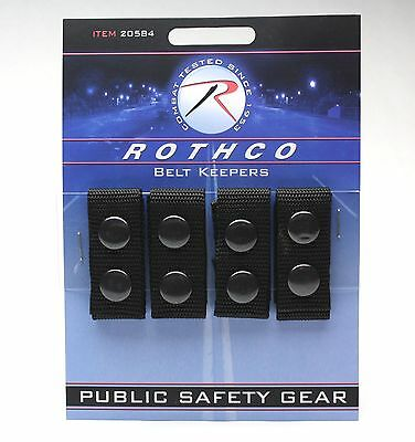 Keepers  - Police-Security-EMS - Black Snap (Belt) Enhanced 4 Pack ROTHCO 20584