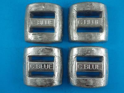 SCUBA DIVE WEIGHTS 4 x 1.5kg (3.30 Lbs) LEAD SPEARFISHING PROFESSIONAL MADE
