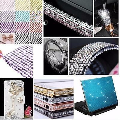 Self Adhesive Crystal Diamante Stick On Craft Gems Sticker Car Rhinestone Strips
