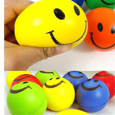 12x Antistressball Anti Stress Ball Funky Face Gesicht Smiley Knetball Wutball