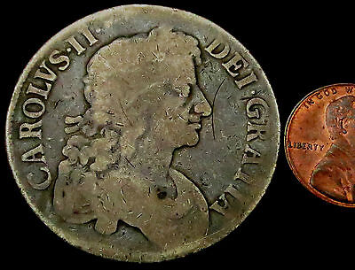 "R024: 1676 Charles II ""Restoration"" Large Silver Full Crown"
