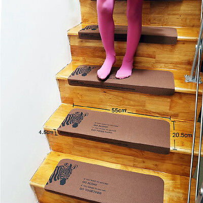 """8""""x22"""" Washable Stair Treads Non-slip Durable Carpet Stair Mats Rugs Pads Lots"""