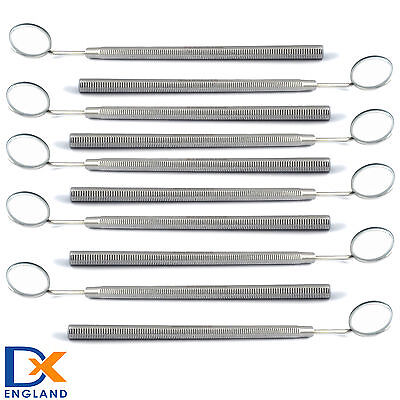 Professional Dental Mouth Mirror Heads + Handle X10 Dentistry Lab Instruments CE
