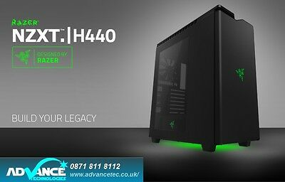 NZXT H440 RAZER Special Edition Black/Green LED Green USB 3.0 x 2 w/W