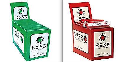 Ezee Green & Ezee Red Rolling Cigarette Papers Standard Size Multiple Variations