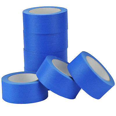8 X Rolls-UV-Resistant-Blue-Painters-Clean-Peel-Masking Tape-50mm x 50m