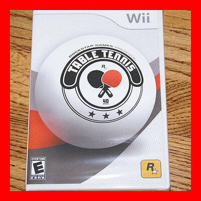 BRAND NEW * Rockstar Games Table Tennis Nintendo Wii Video Game * FACTORY SEALED