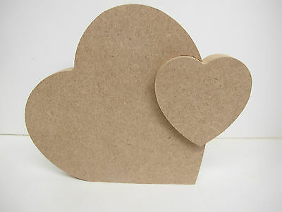Heart in Heart Removable Freestanding Quality 18mm Thick Large