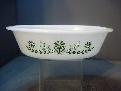 Vintage Glasbake OVAL CASSAROLE dish built in handles cook bake serve