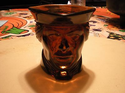 patriot head brown glass candle holder from avon