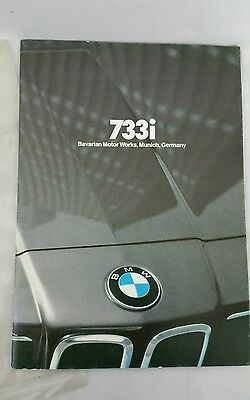 1980 BMW Brochure 733i Car Auto Dealer Sales Pamphlet Literature Showroom