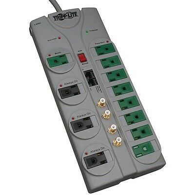NEW Tripp Lite Tlp1210satg 12-outlet Energy-saving Surge Protector