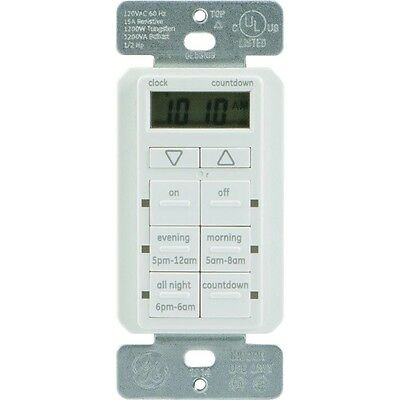 NEW Ge 25055 Touchsmart(tm) In-wall Digital Timer With 6 Pushbuttons