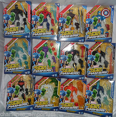 "Marvel Mashers Super Hero interchangeable Figures 15 cm 6"" Hasbro Avengers Comic"