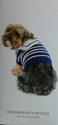 Puccie Designer Knits For Dogs - Hello Sailor Jumper, 3 Pattern Sizes Inc