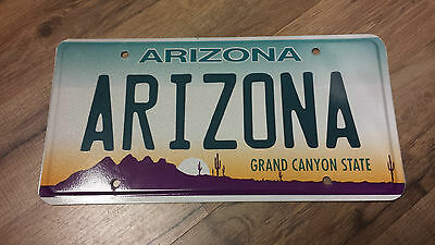 2000 ARIZONA Sample License Plate