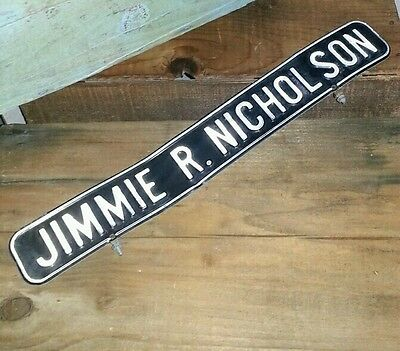 Antique double sided street sign JIMMIE R. NICHOLSON