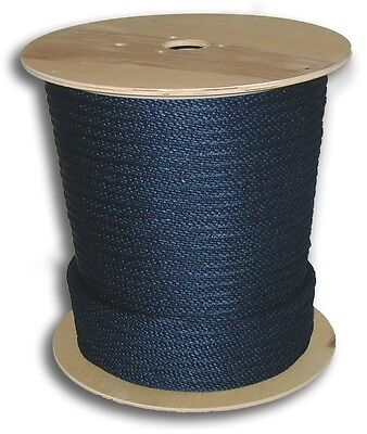"""Anchor Rope Dock Line 3/8"""" X 50' Braided 100% Nylon Navy Blue Made In Usa"""