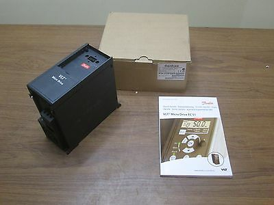 Danfoss 132F0010 VFD Inverter AC Drive 200V Three Phase In 0.75kW 1HP NEW
